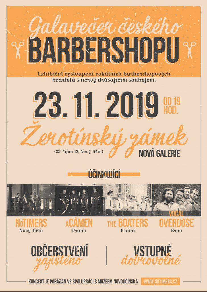 Plakát na Galavečer českého barbershopu 2019